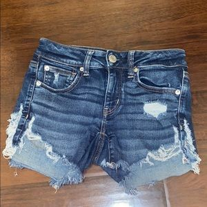 american eagle size 2 jean shorts!